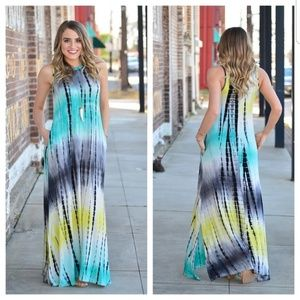 ⚓ Vibrant Tie Dye Maxi Dress ⚓